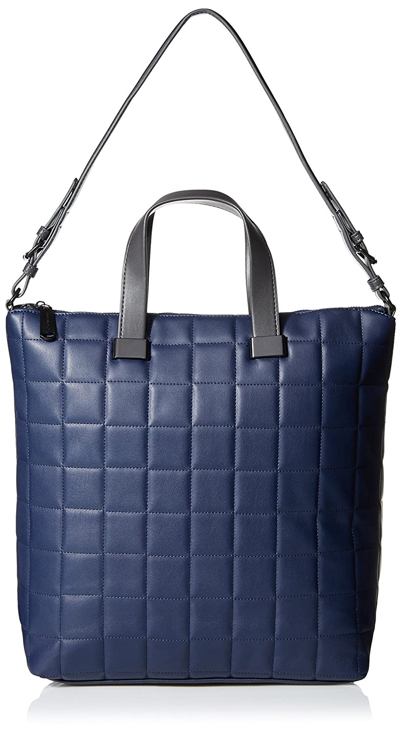 5f33b27319d4b Steve Madden Women's Bree Quilted Tote, Navy