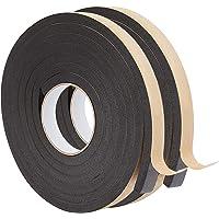 BENECREAT 2 rollen 6 m zelfklevende schuimstrip 20 mm (W) x10 mm (T) zwart enkelzijdig weer strippen schuim…