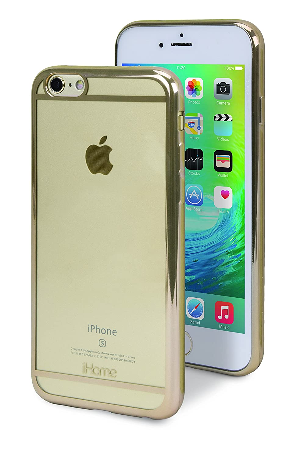 best website e07ee 3ec6d Amazon.com: iHome Cell Phone Cases for Universal - Gold: Cell Phones ...