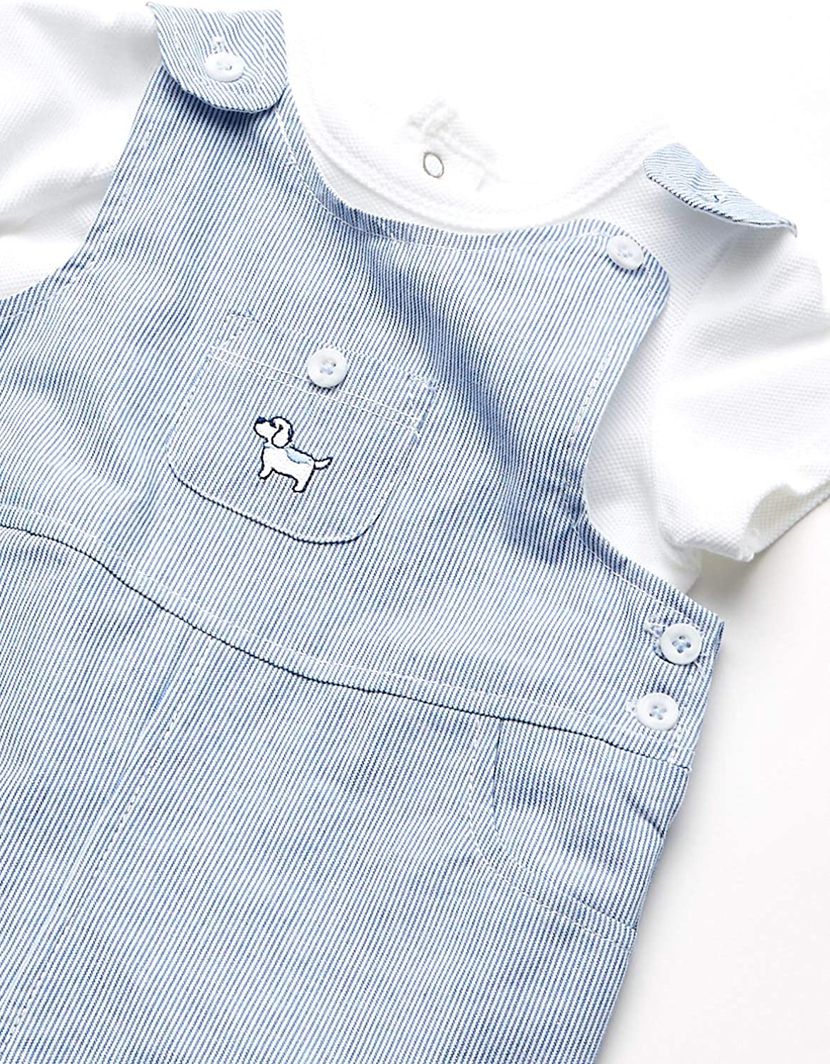 Little Me Baby Boys Shortall Set