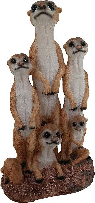 Erdmännchen Familie Figur Gartenfigur 20 cm Erdmännchenfamilie Tierfigur Meercat