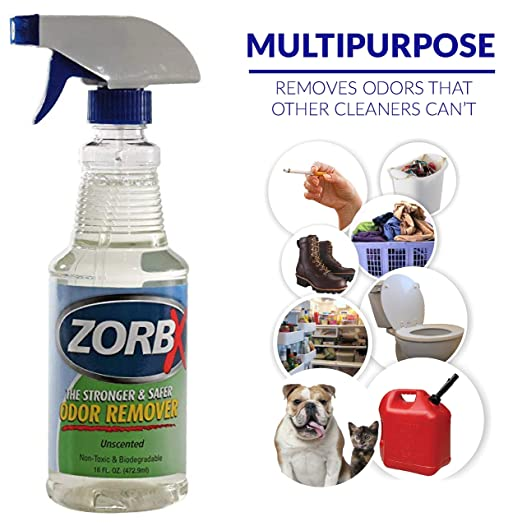 ZORBX Unscented Multipurpose Odor Remover –Safe for All, Even Children, No  Harsh Chemicals, Perfumes