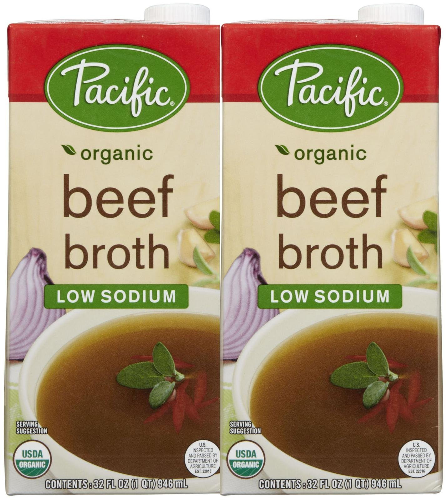 Pacific Natural Foods Organic Chicken Broth Low Sodium 1 2 Pk Beef 32 Oz