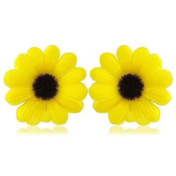 Yellow daisy flower hair clips brooches includes clip for hair yellow daisy flower hair clips brooches includes clip for hair and pin for brooch mightylinksfo