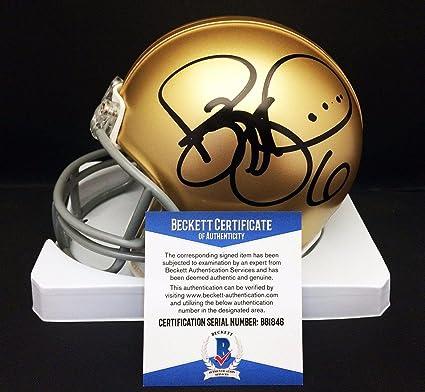 334ee8a3b9e Jerome Bettis Signed Notre Dame Irish Football Mini Helmet BAS B81846 - Beckett  Authentication - Autographed