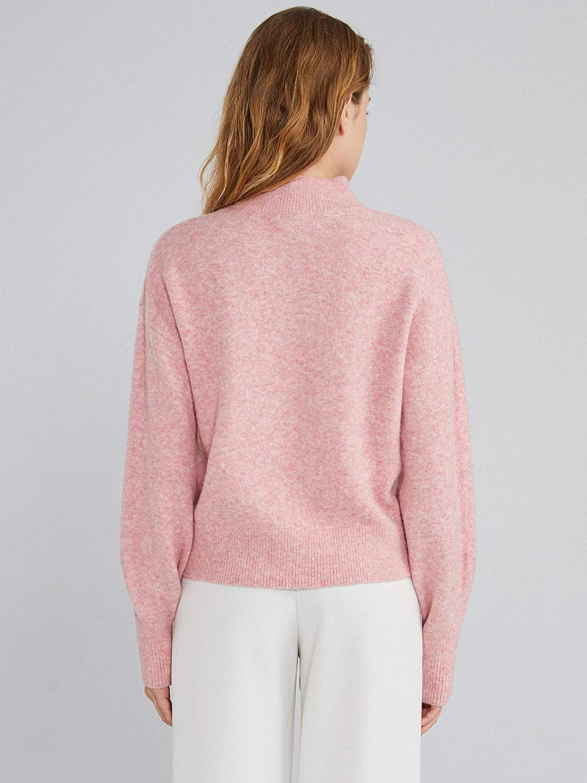 Woolen Bloom Damen Pullover Rundhalsausschnitt Langarm Strickpullover Grob gestrickter Strickpulli Rolli Sweater Einfarbig Gem/ütlich L/ässig Lose Bluse