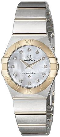 Omega 12320246055002 Constellation de la mujer cuarzo analógico Swiss Plateado Reloj: Omega: Amazon.es: Relojes