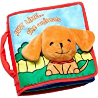 ToBeReadyForLife CLOTH BOOK Baby Easter Gifts, Soft Books for Newborn Babies, 1 Year Old Infant, Toddler, Educational Learning Toy for Boy & Girl, Touch and Feel Activity, Crinkle Peekaboo, Gift Box, Interactive Baby Shower Gifts, Washable Fabric
