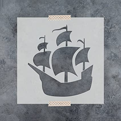 Amazon pirate ship stencil template for walls and crafts pirate ship stencil template for walls and crafts reusable stencils for painting in small maxwellsz