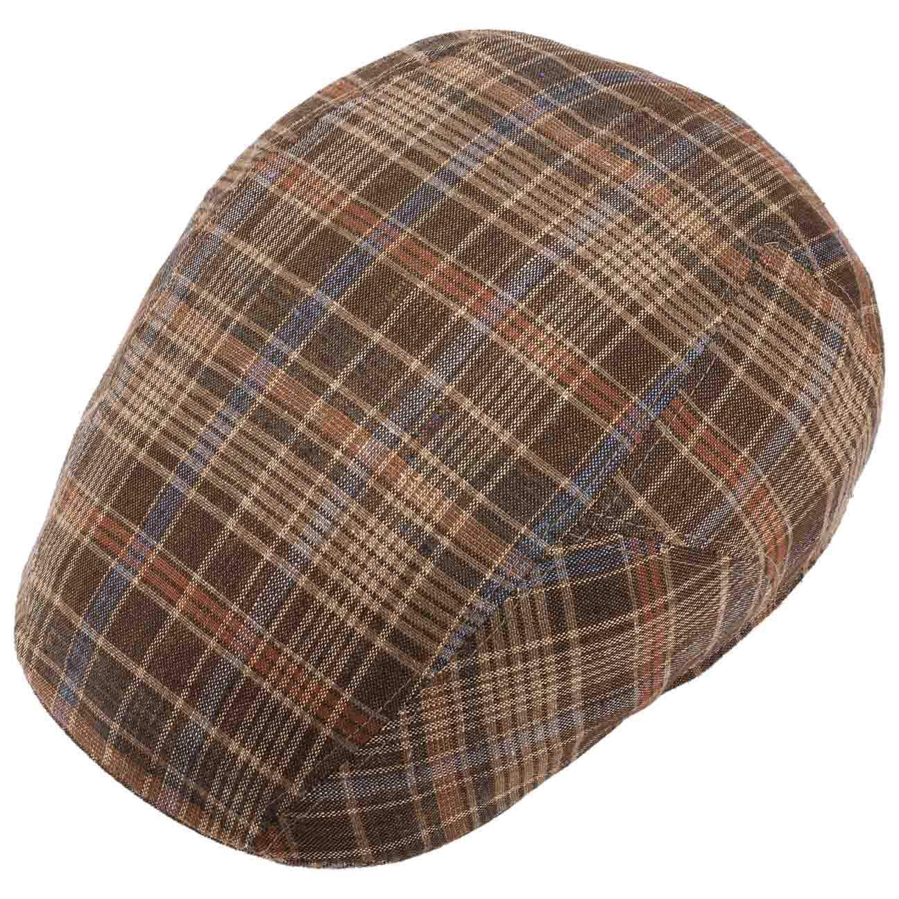 Futter, Stetson Texas Grenville Check Flatcap Schirmm/ütze Schieberm/ütze Baumwollcap Leinencap Sommercap Herren Made in The EU mit Schirm