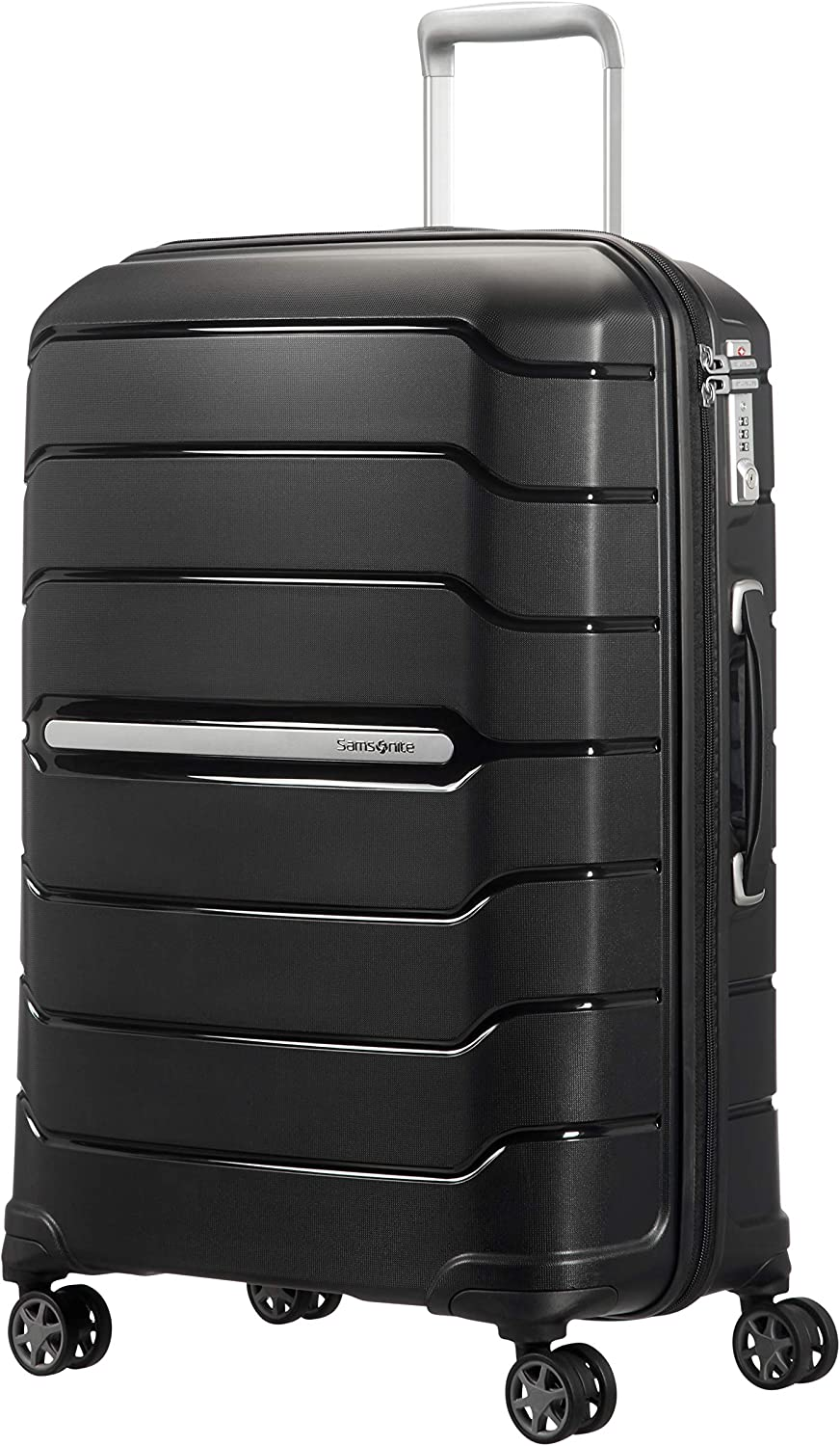 Samsonite Flux Spinner M Maleta Expansible, 68 cm, 85 L, Negro (Black)
