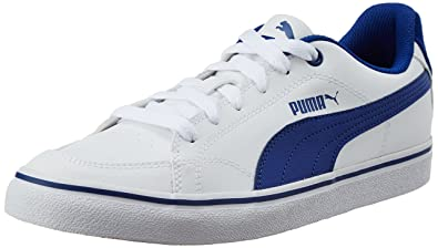 f2170e7c443 Puma Men s Court Point Vulc White and Limoges Sneakers - 7 UK India (40.5