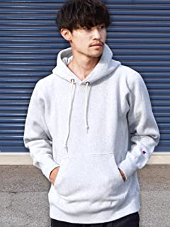 Reverse Weave Pullover Hooded Sweat Shirt 112-55-0016: Grey
