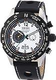 Nautec No Limit Herren-Armbanduhr XL Indianapolis Chronograph Quarz Leder IP QZ/LTSTBKWH