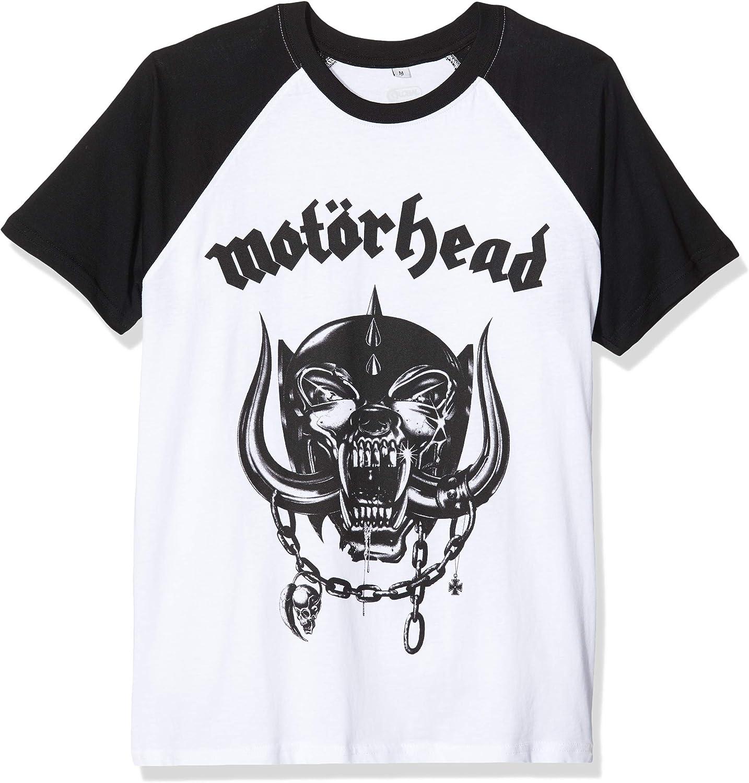 MERCHCODE Motörhead Everything Louder Raglan - Camiseta Niños