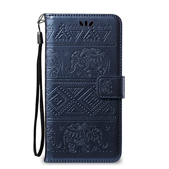 save off ef297 c67c4 iPhone 7 Cute Elephant Pattern Case,[Stand Feature] [2 Card Slots] [Money  Pocket] Synthetic Leather 4.7inch iPhone 7 Wallet Case with Screen  Protector ...
