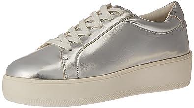 f0d44ce6e0a STEVEN by Steve Madden Women s Haris Fashion Sneaker Silver Metallic 8 ...