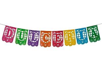 Plastic Mexican Papel Picado Banner