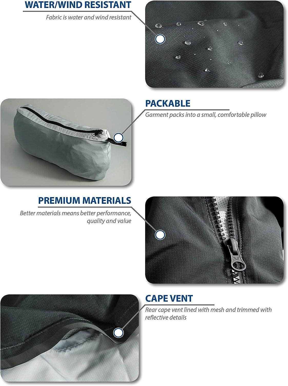 Brand - Peak Velocity Men's Zephyr Windbreaker Loose-Fit Anorak Jacket: Clothing