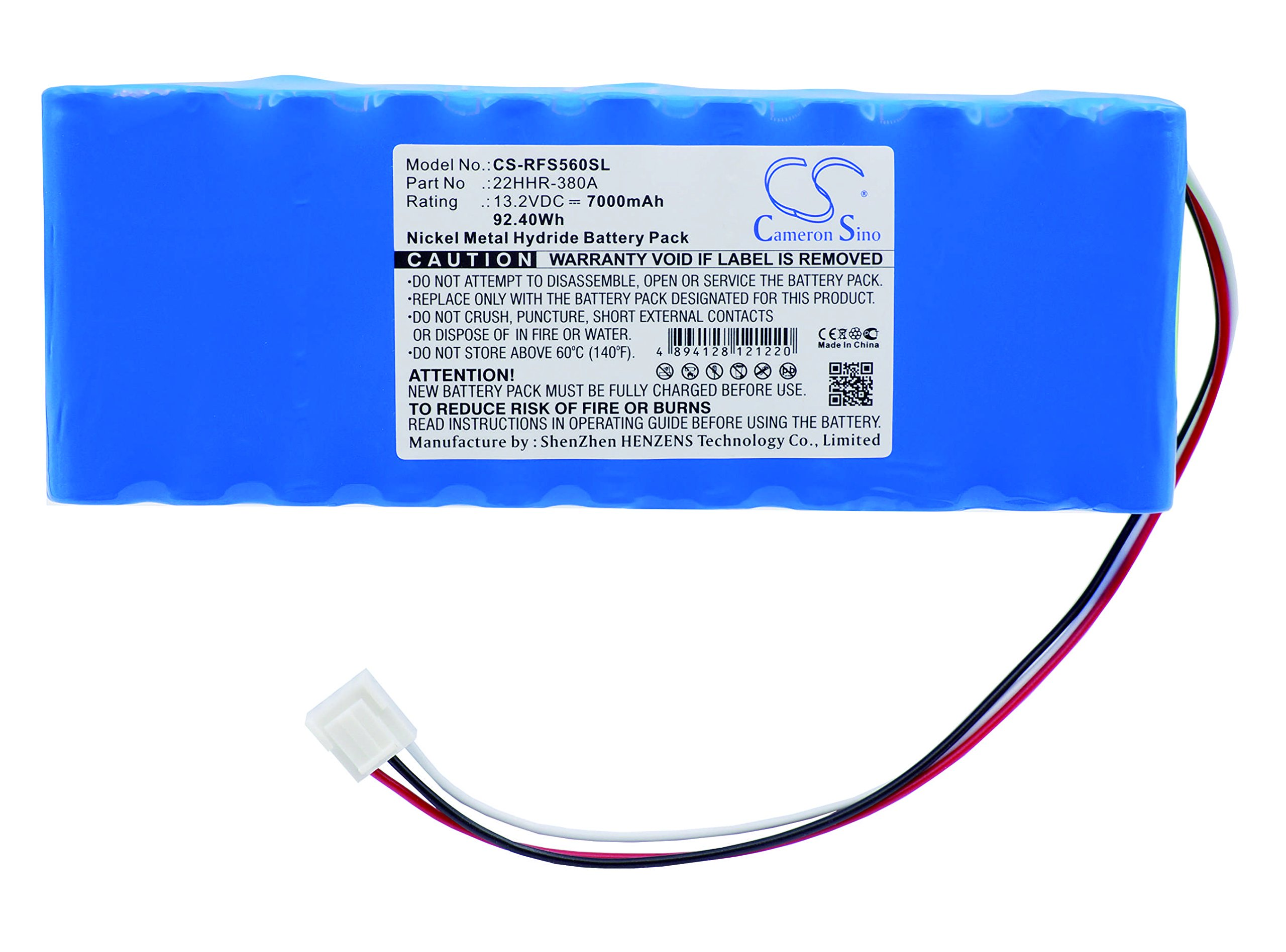 High Capacity Cameron Sino 7000 mAh Ni-MH Replacement Battery for Rohde & Schwarz Spectrum Analyzer 1102.5607.00, fits Rohde & Schwarz 22HHR-380A by Cameron Sino