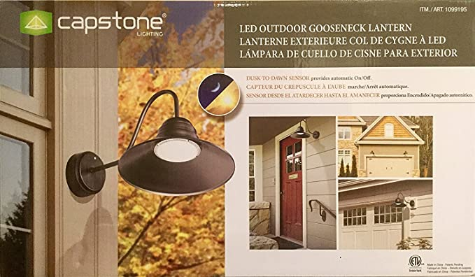 Capstone Lighting LED Outdoor Gooseneck Lantern