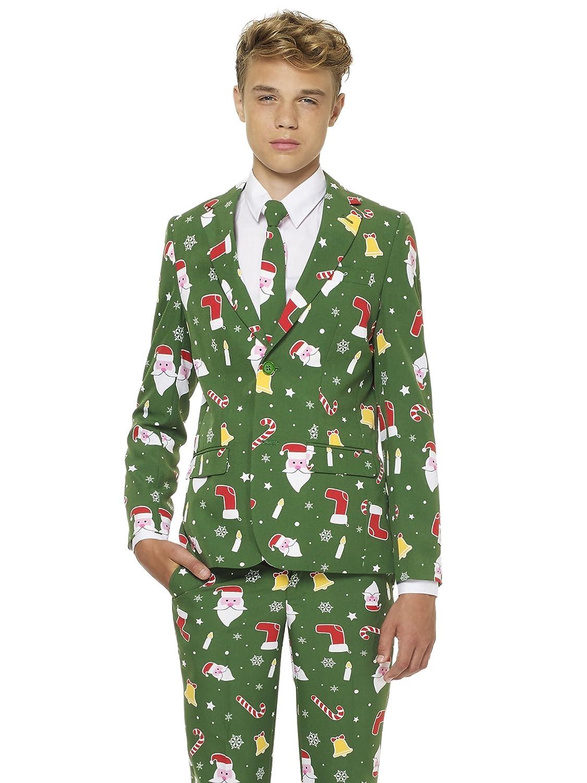 opposuits Abiti Divertenti per Natale Completo: Giacca, Pantaloni e Cravatta Generique