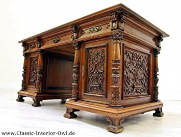 Schreibtisch Gründerzeit Antik Tisch Englisch Kolonialstil Barock