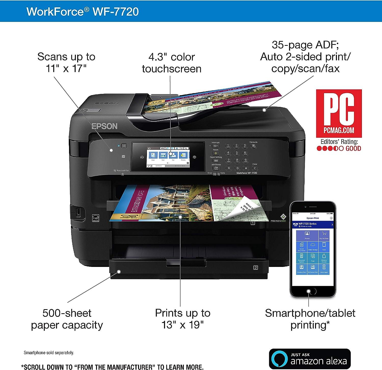 Amazon.com: Workforce WF-7720 Impresora de inyección de ...