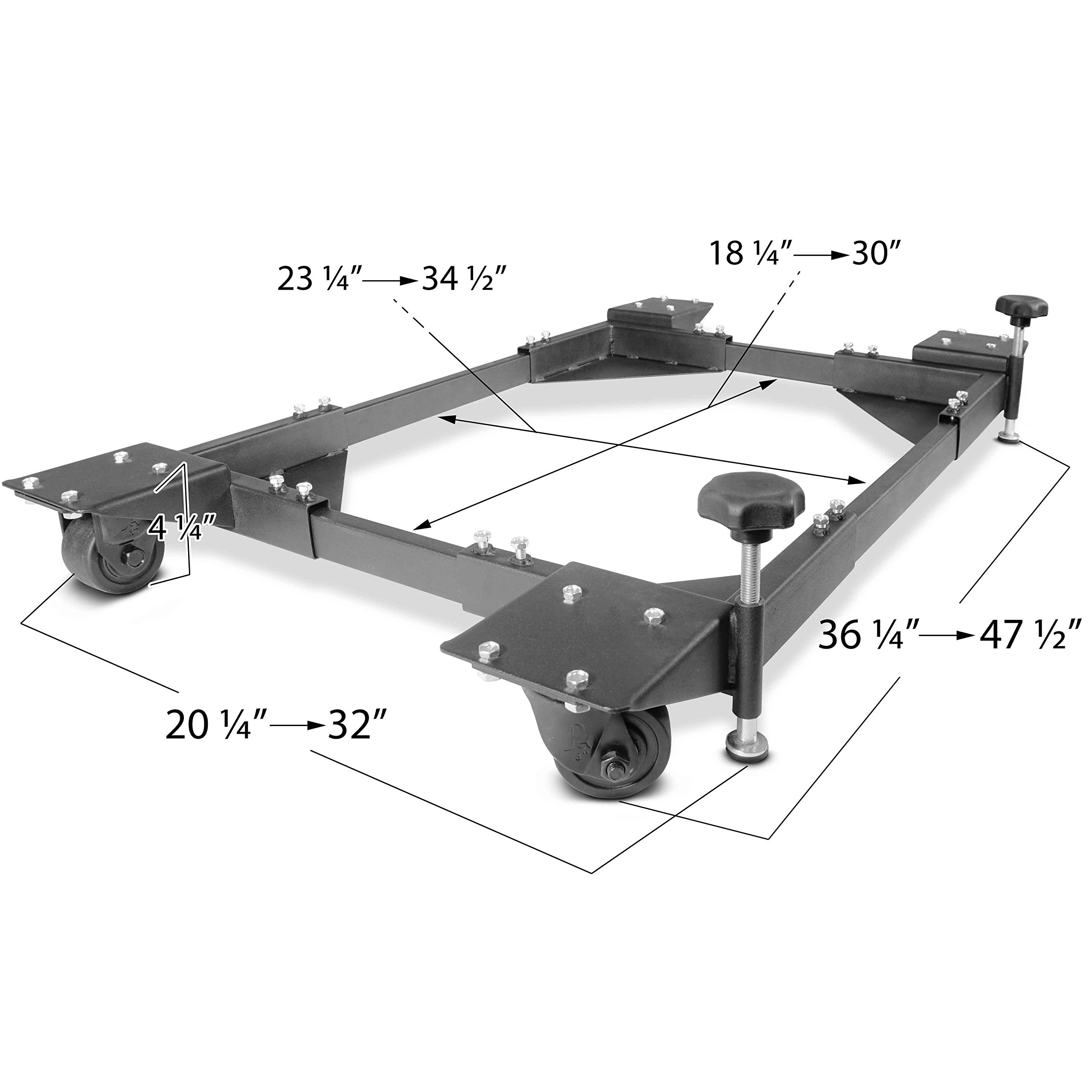 Titan Adjustable Mobile Base Dolly 1200 lb Capacity HD Universal Power Tools - Make Your Workshop Portable & Easy To Use by Titan Attachments (Image #2)