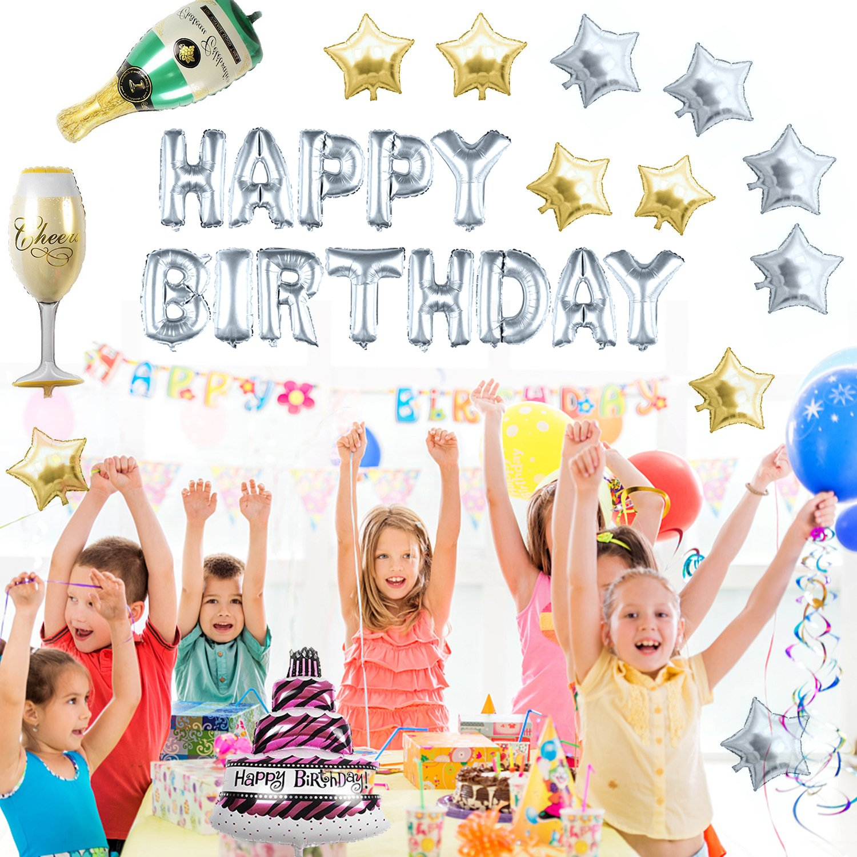 12681c3a2e71c  127 Piezas  Globos Cumpleaños   Happy Birthday   Suministros y Decoración  para Fiesta   Felicidades Cumpleaños   Decoración de la Festivas Lujo    Colores ...