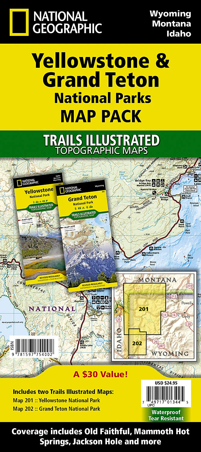 Yellowstone And Grand Teton National Parks Map Pack Bundle