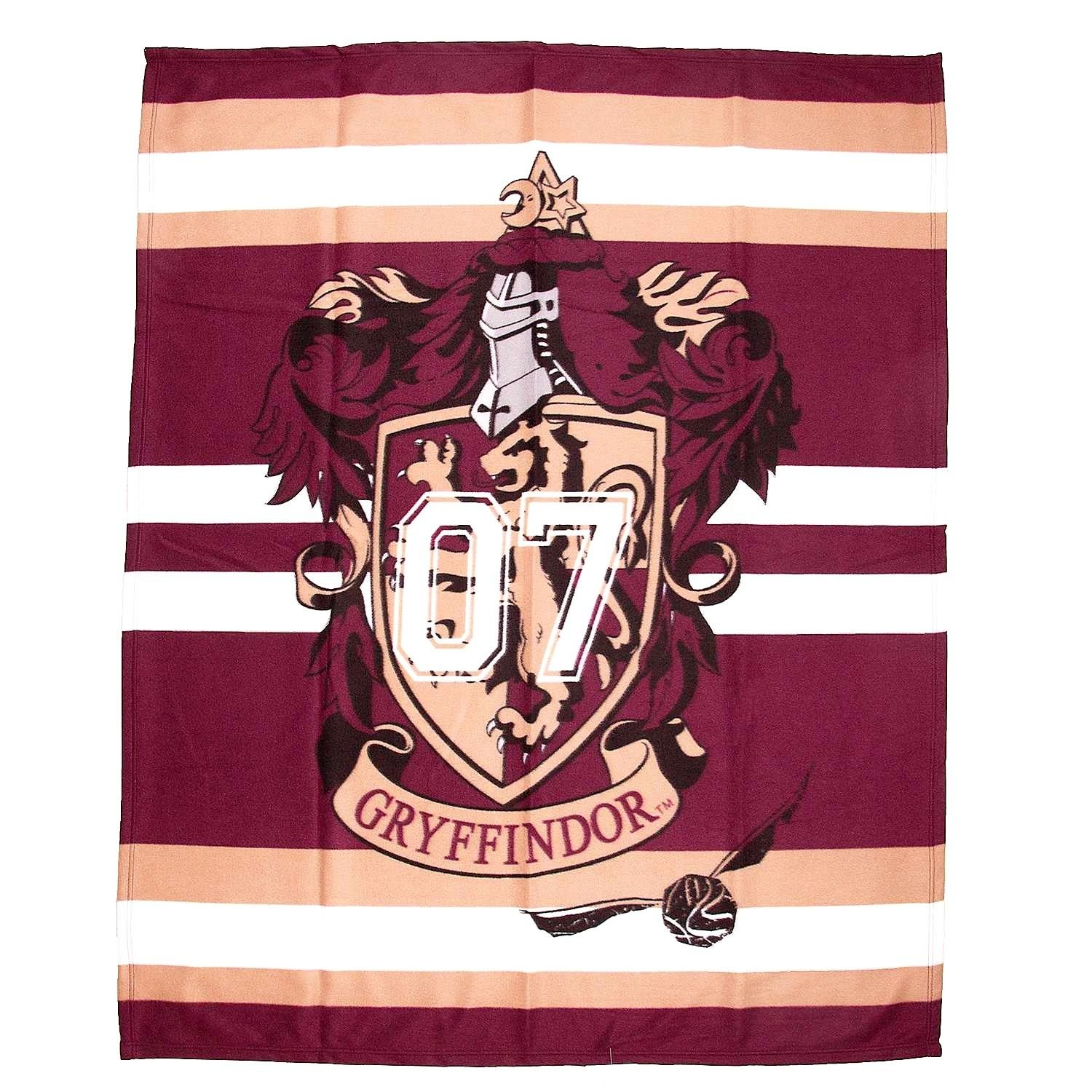 HARRY POTTER Fleece Blanket Muggles Large Print Hogwarts School Kids Boys Girls (Gryffindor house crest, 100 X 150) Style It Up