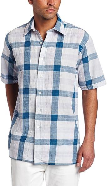 Report Collection - Camisa a Cuadros para Hombre - Morado - XX-Large: Amazon.es: Ropa y accesorios