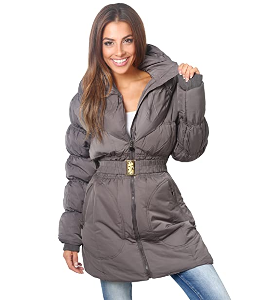 354c49fe0 KRISP Womens Puffer Quilted Down Thick Long Coat Jacket Plus Size