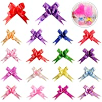 180PCS 18 Colors Gift Basket Pull Bows Knot Ribbon Present String Wrapping Decorative Bows for Christmas New Year…