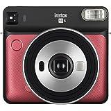 Fujifilm Instant Film Camera, Ruby Red (Instax Square SQ6 Ruby Red)