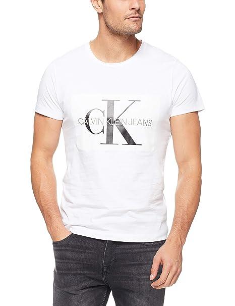 sale retailer c5cd6 365c6 Calvin Klein T Shirt Manica Corta Uomo Bianca: Amazon.it ...