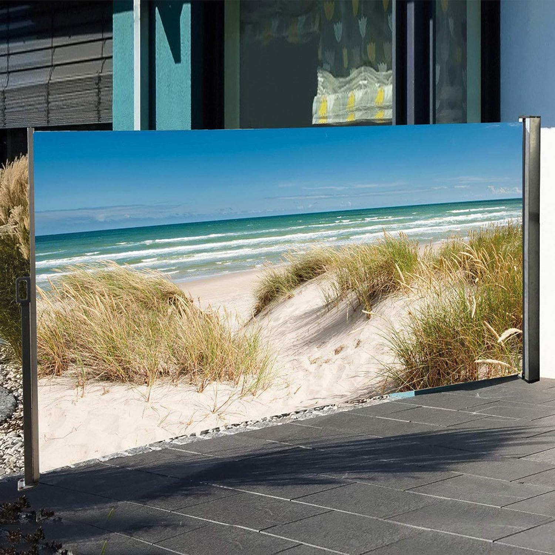 Amazon De Seitenmarkise Sichtschutz Fotodruck Strand Dune Meer
