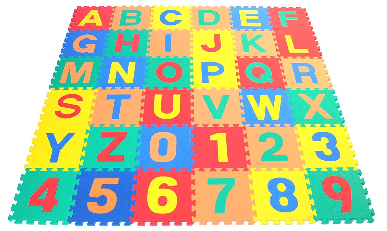 Wonder Mat Non-Toxic Non-Recycled Alphabet Letters & Counting Numbers Soft Foam Learning Waterproof Playmats American Creative Team Inc. CT-246