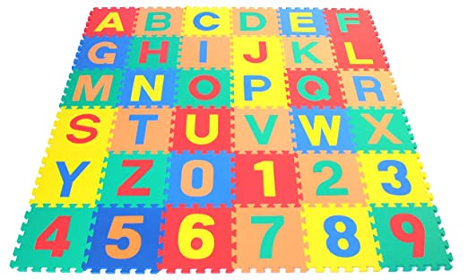 Alphabet Letters & Counting Numbers (A-Z 0-9)