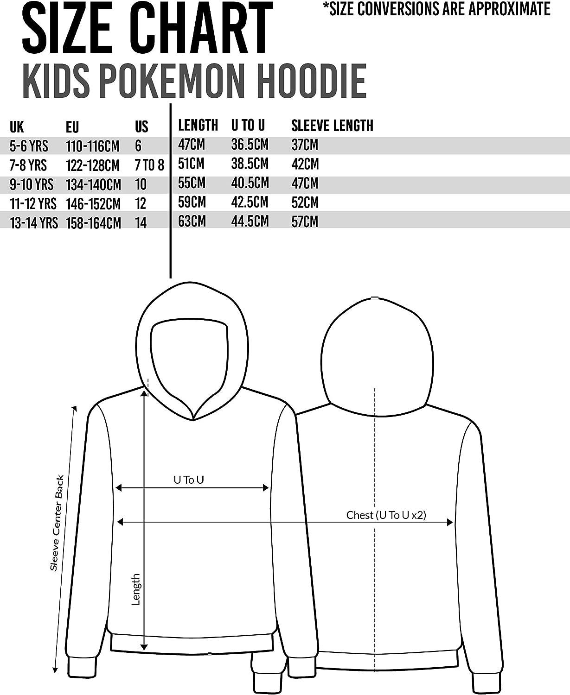 Pokemon Hoodie Boys Kids Pikachu Face Blue Game Sweater Gift