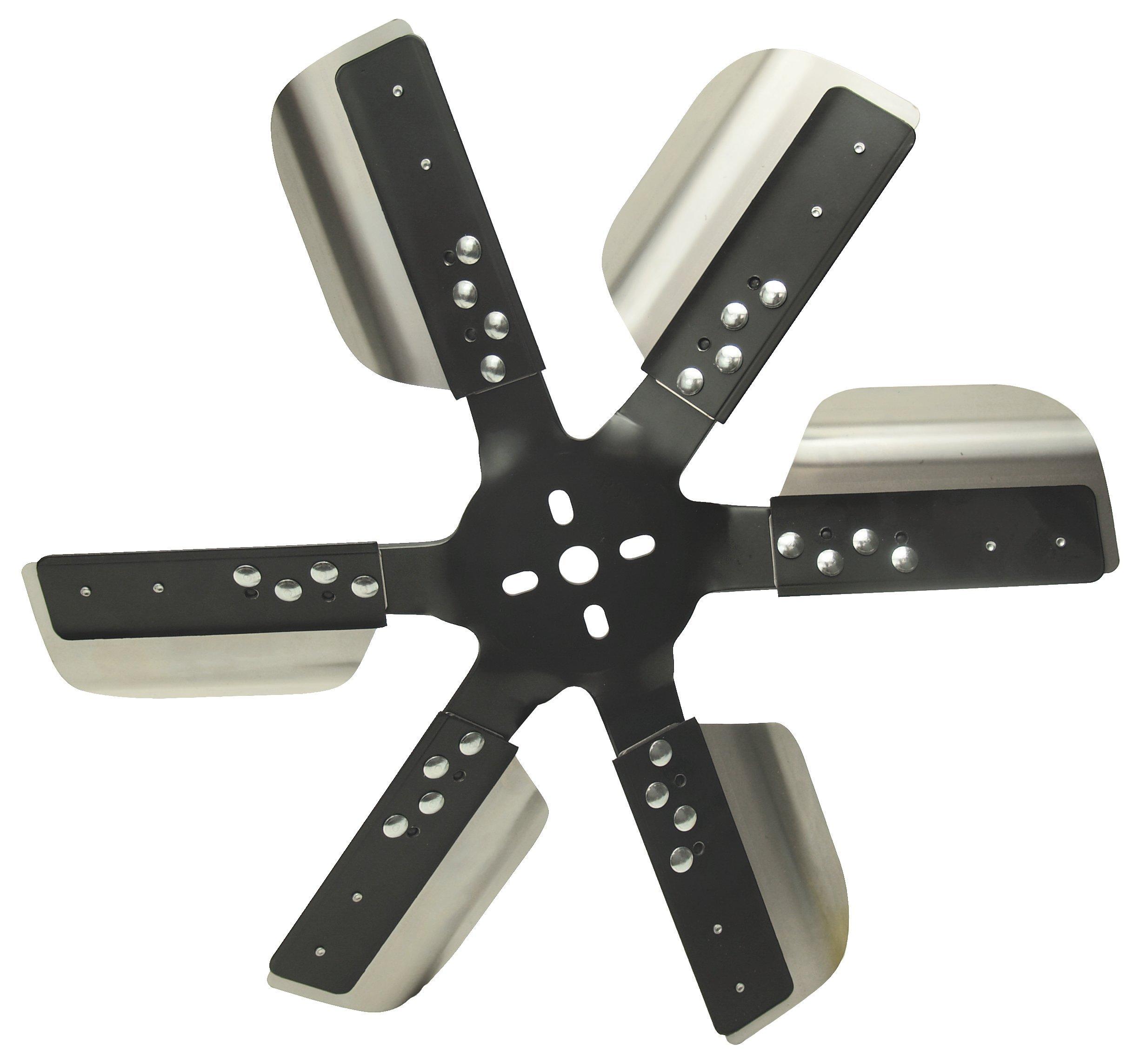 Derale 17018 Heavy Duty Fan Blade Series 1000 18'' Stainless Steel Flex Fan Standard Rotation
