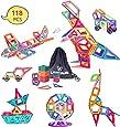 LEEHUR 118 pz Piani di Costruzione Magnetici Clear Blocks di Costruzione Magnetici Playboards di Costruzione - Creatività oltre l'immaginazione, Ispirante, Ricreativa, Educativo, Convenzionale