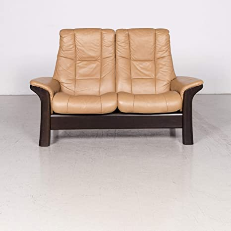Stressless Windsor Designer Sofa Cognac Real Leather Two ...