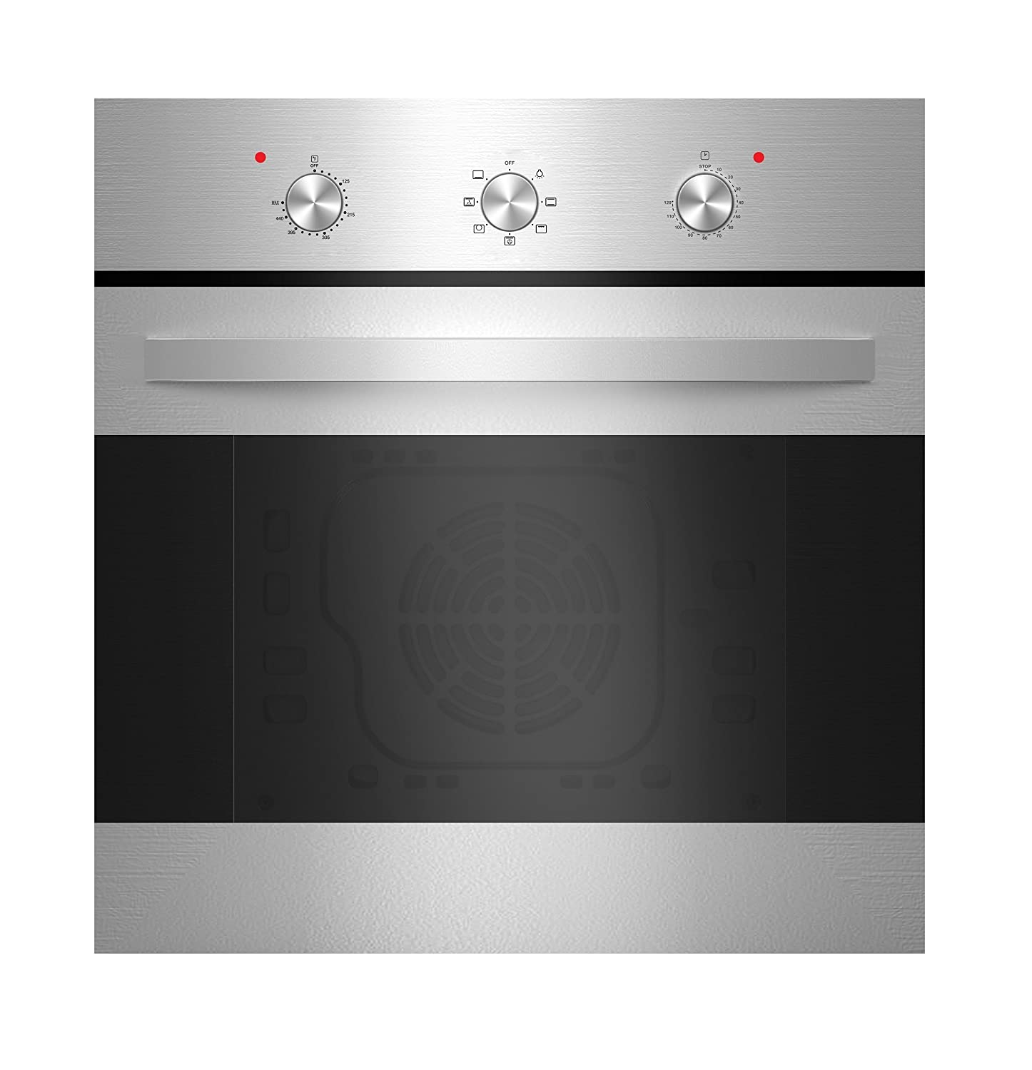 "Empava 24"" Tempered Glass Electric Built-in Single Wall Oven - Stainless Steel KQP65B-14-110V"