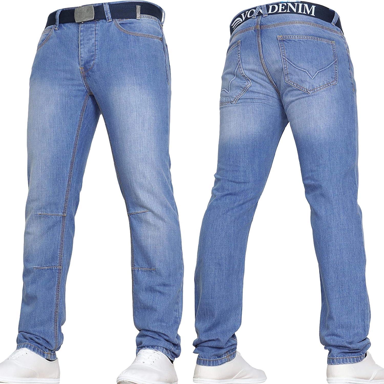 Von Denim Mens Designer Slim Fit Jeans by JEANBASE