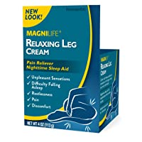MagniLife Relaxing Leg Cream Pain Relief & Sleep Aid for Restless Legs, Cramping...
