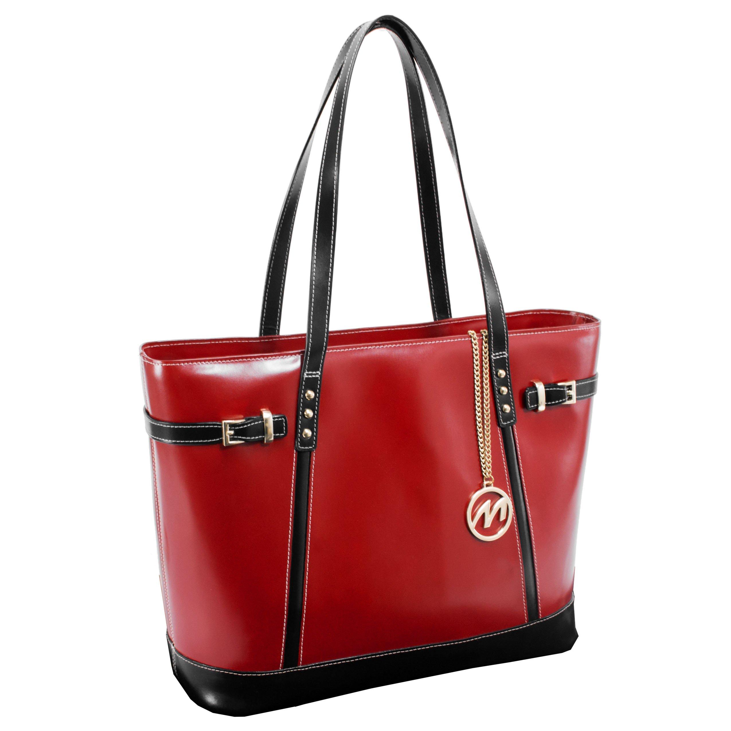 McKleinUSA SERAFINA  97566 Red Leather Women's Business Tote