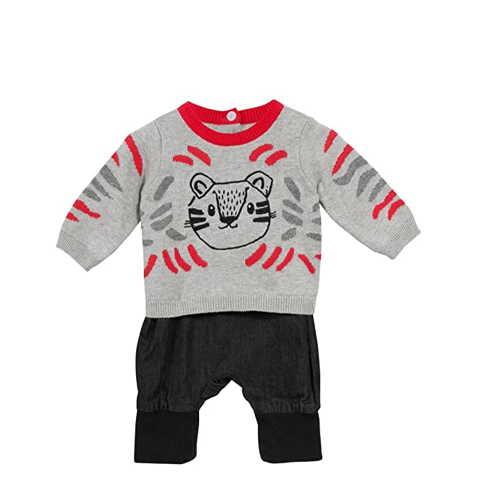 Catimini Top Tricot+Pant, Conjuntos de Pijama para Bebés, (Gris Chine 20