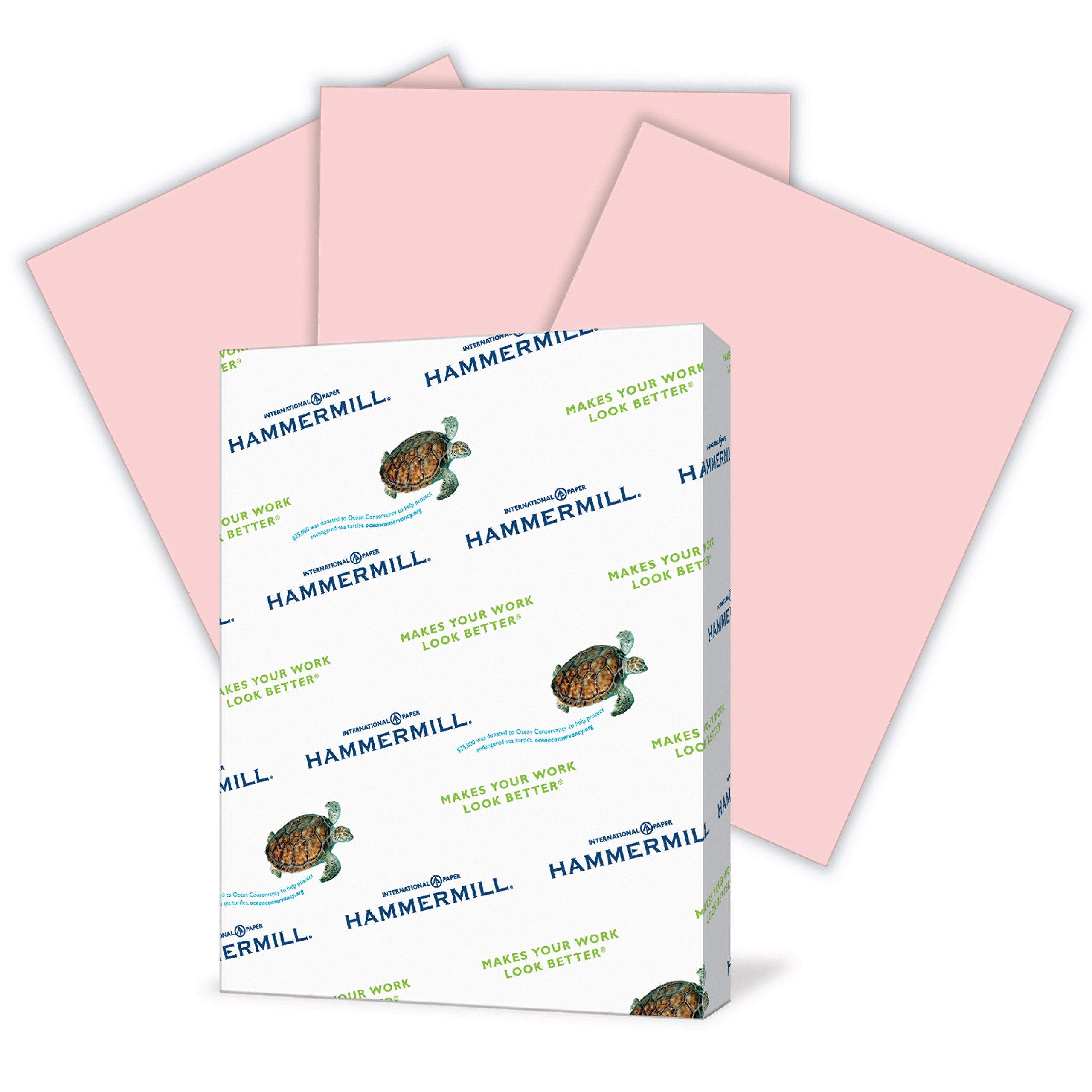 Hammermill Colored Paper, Pink Printer Paper, 20lb, 8.5x11 Paper, Letter Size, 500 Sheets / 1 Ream, Pastel Paper, Colorful Paper (103282R)